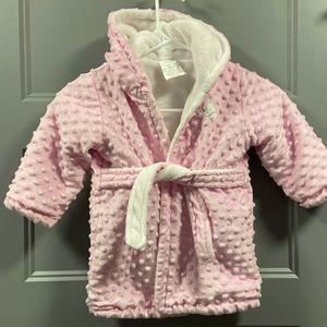 Blankets & Beyond Soft Minky Toddler Bathrobe